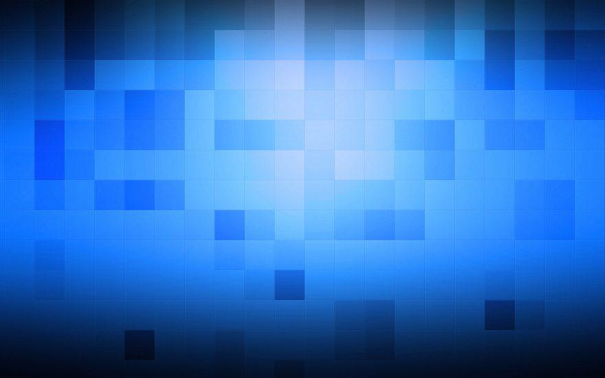 Картинка: Кубики, квадраты, голубой, синий, фон