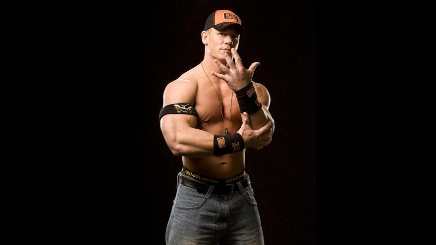 Картинка: John Cena, рестлер, мужчина, повязка, кепка, чёрный фон