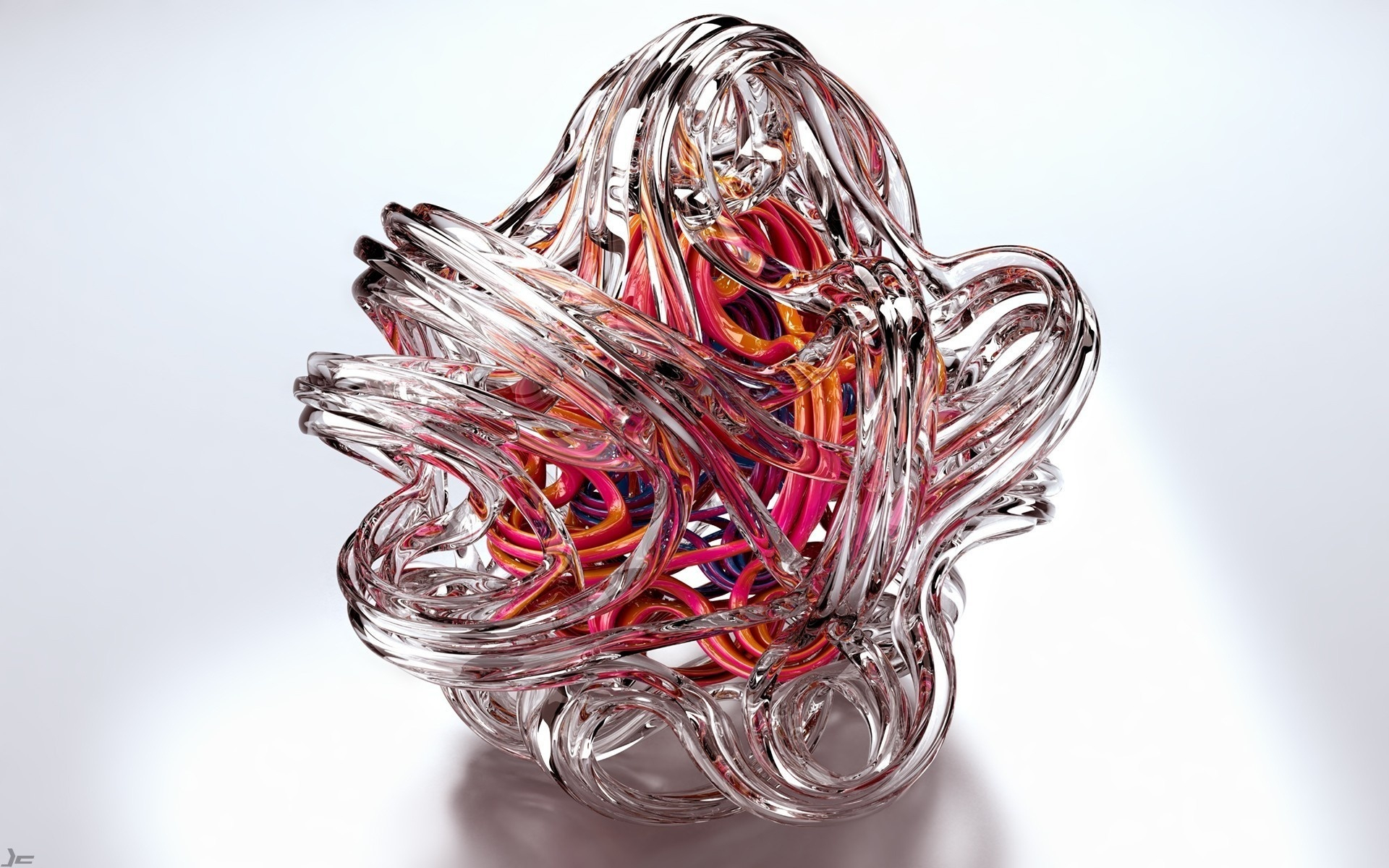 Image: Ball, glass, shape, curves, color