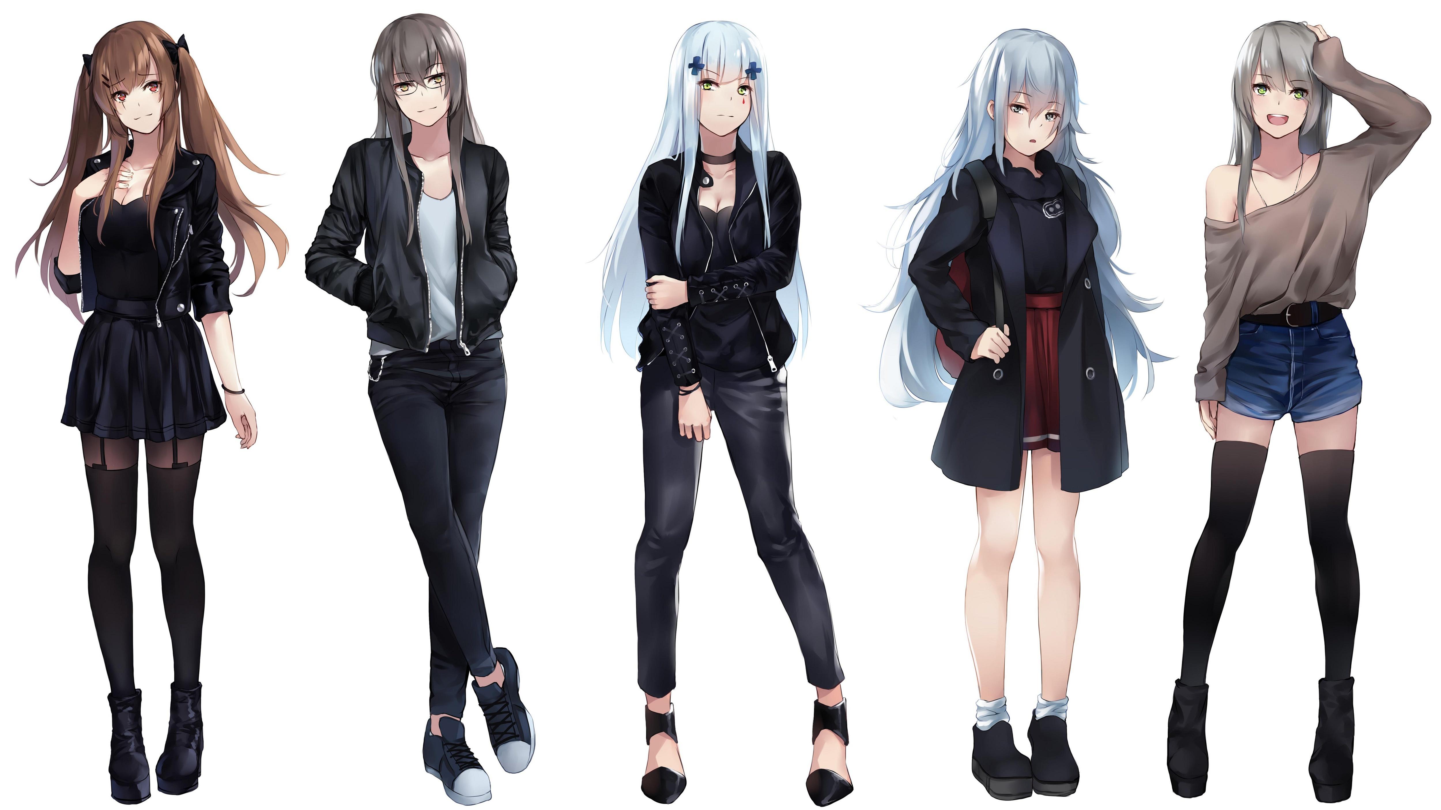 Картинка: Девушки, стиль, группа, Girls Frontline, девушки фронта, игра, аниме