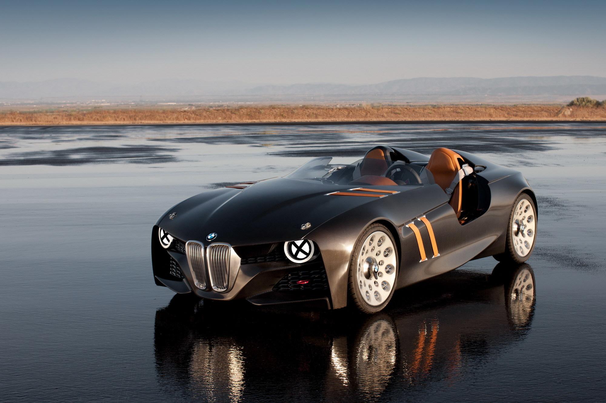 Картинка: BMW, 328, Hommage, 2011, концепт-кар, горизонт, пустыня, вода, отражение