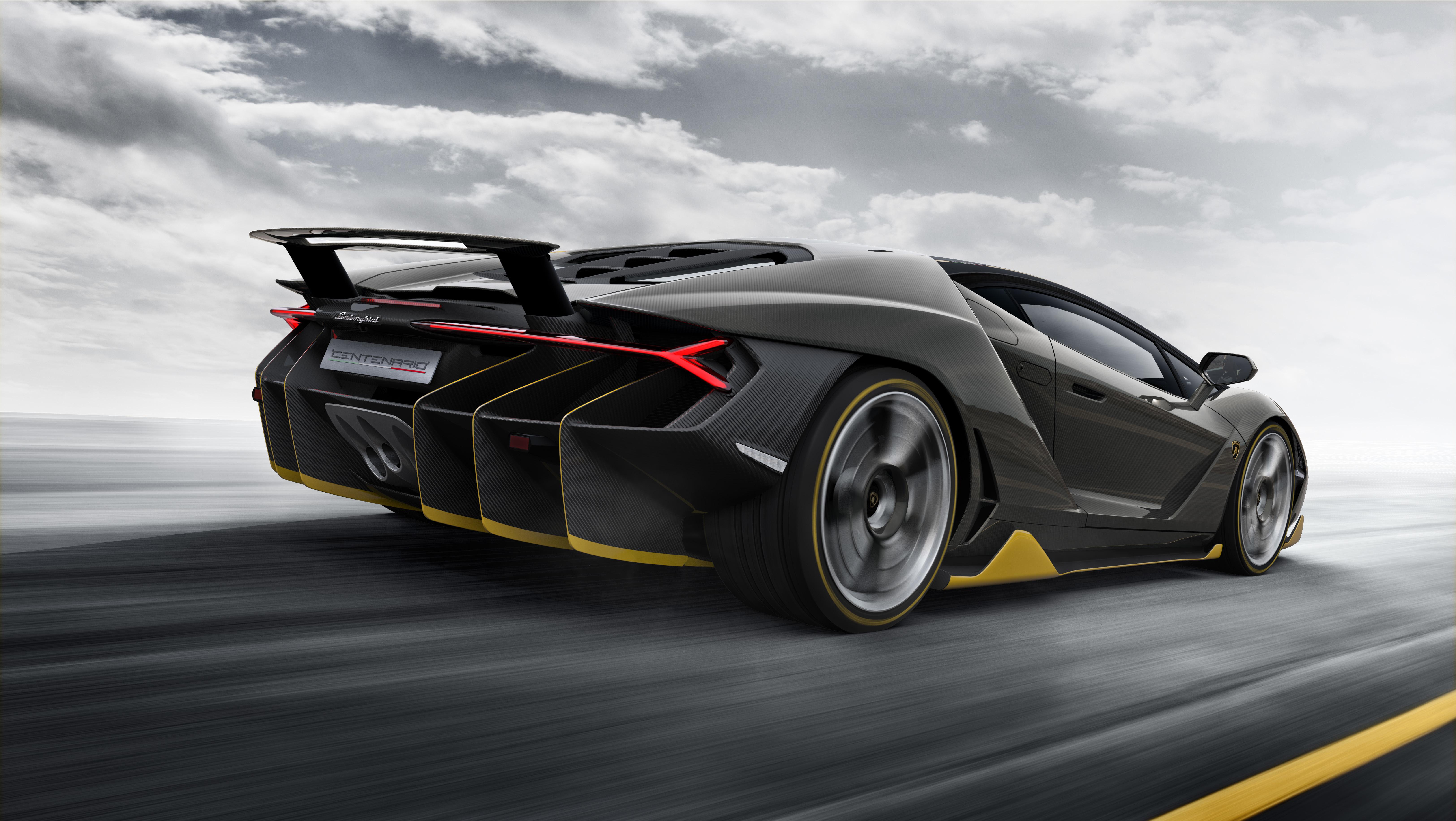 Картинка: Lamborghini, Centenario, LP 770-4, спорткар, скорость, движение, дорога