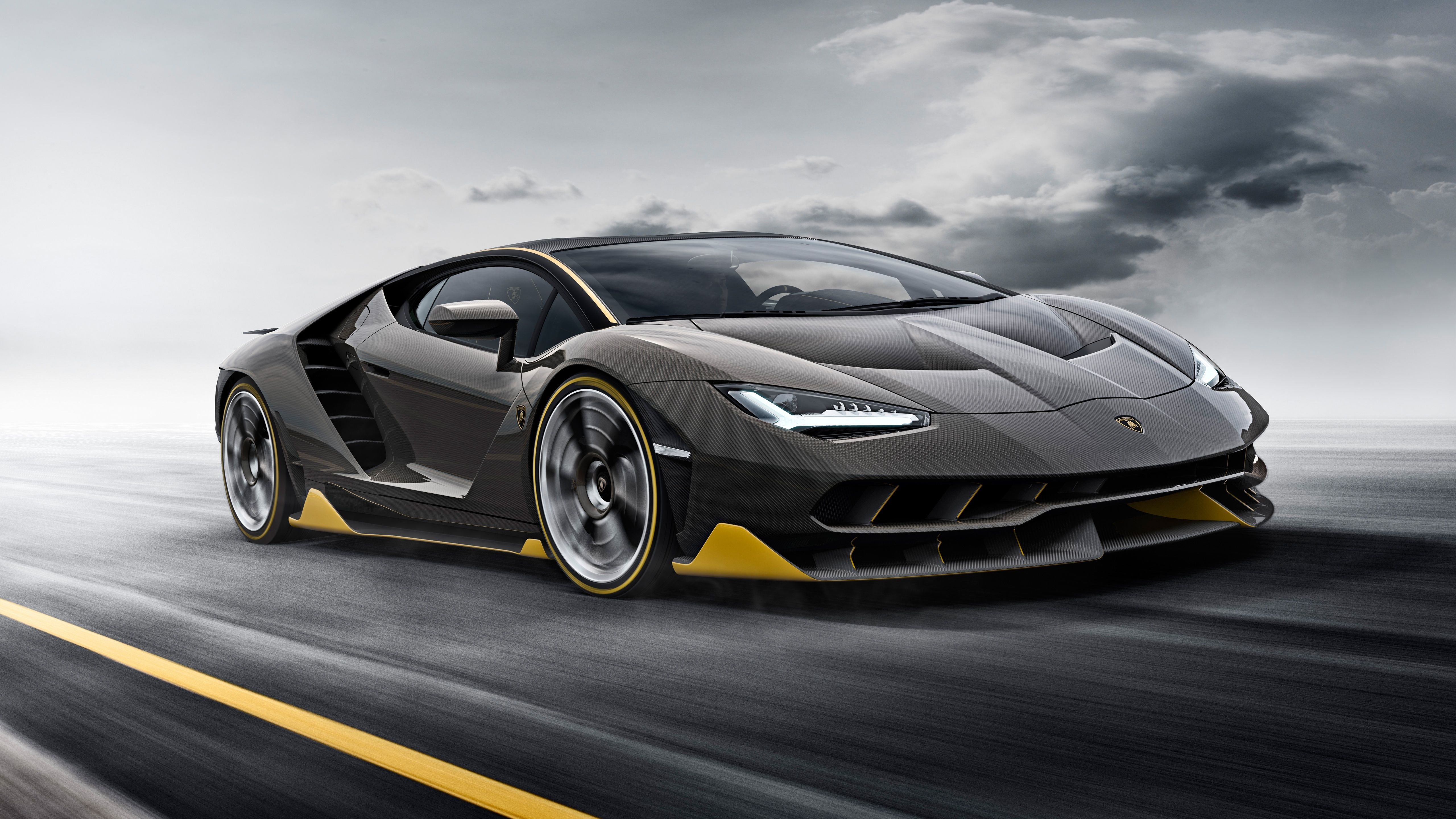 Картинка: Суперкар, Lamborghini, Centanario, 2016, дорога, скорость