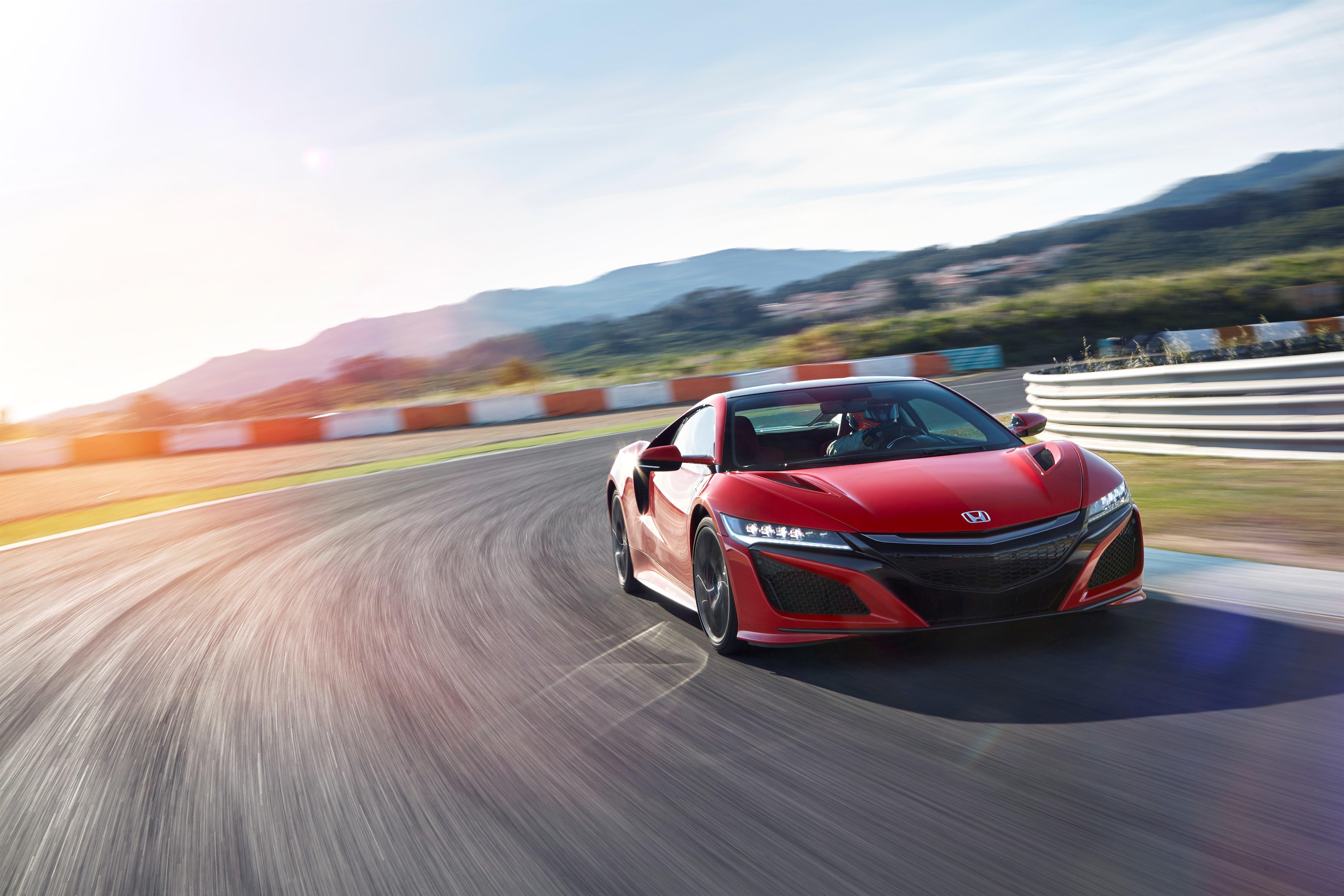 Картинка: Honda NSX, Red, красный, спортивный, автомобиль, трасса, дорога, асфальт, скорость