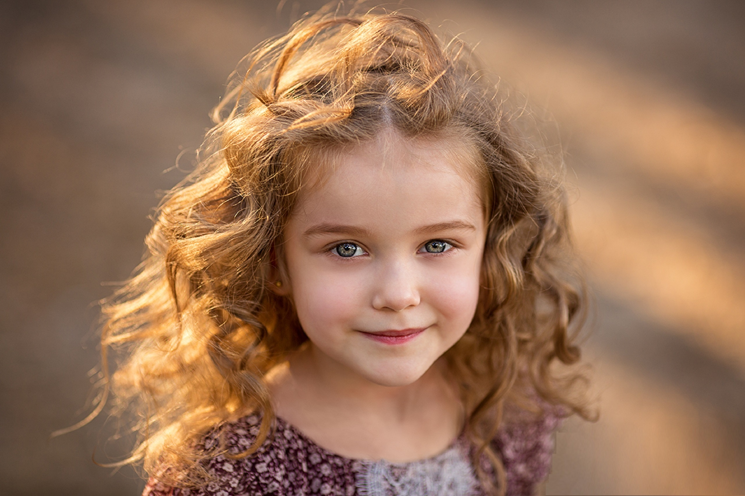 Image: Girl, curly, hair, eyes, smile, Catherine Stern, photographer