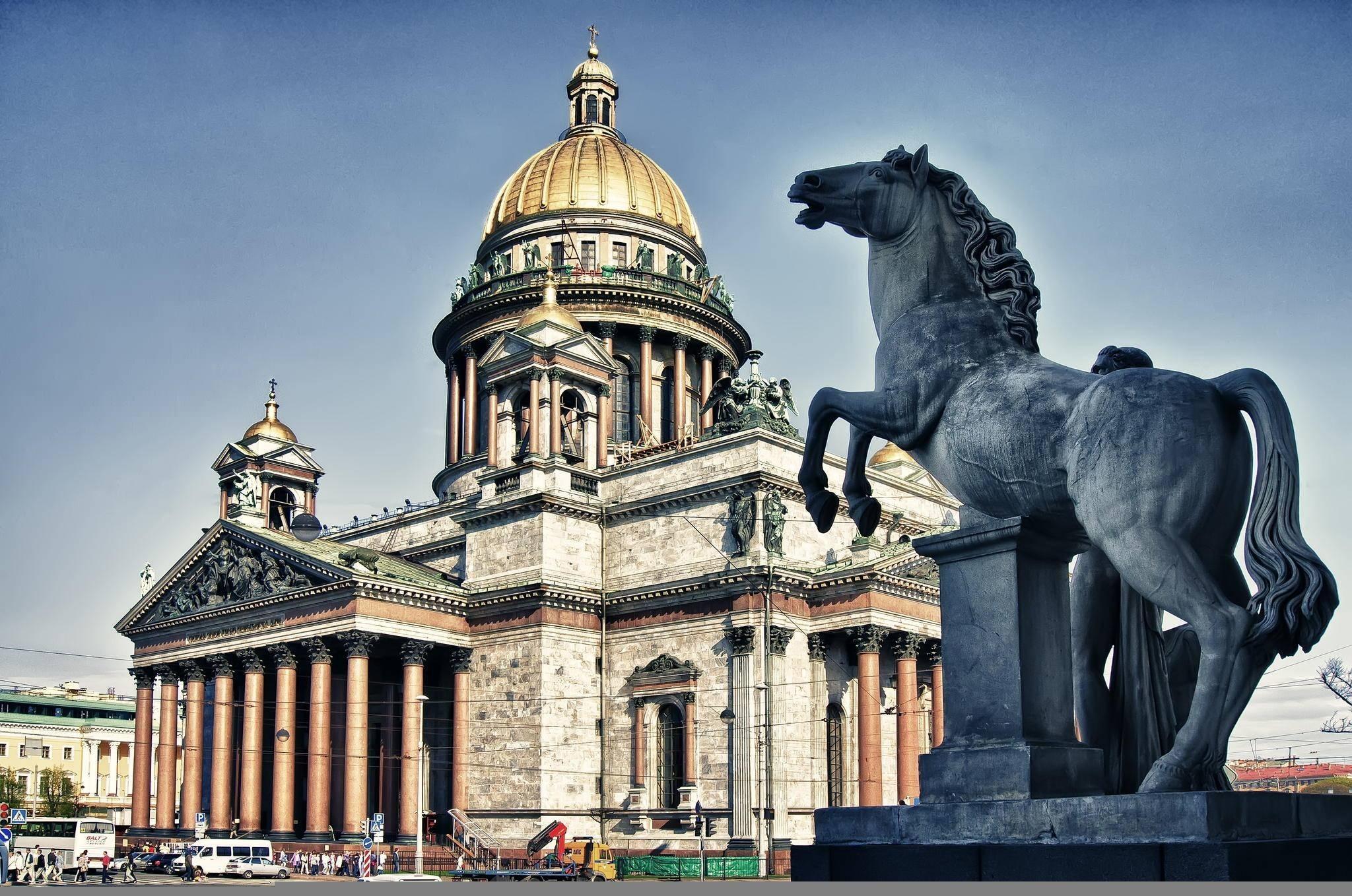 Картинка: Россия, Санкт-Петербург, Исаакиевский собор, статуя, конь