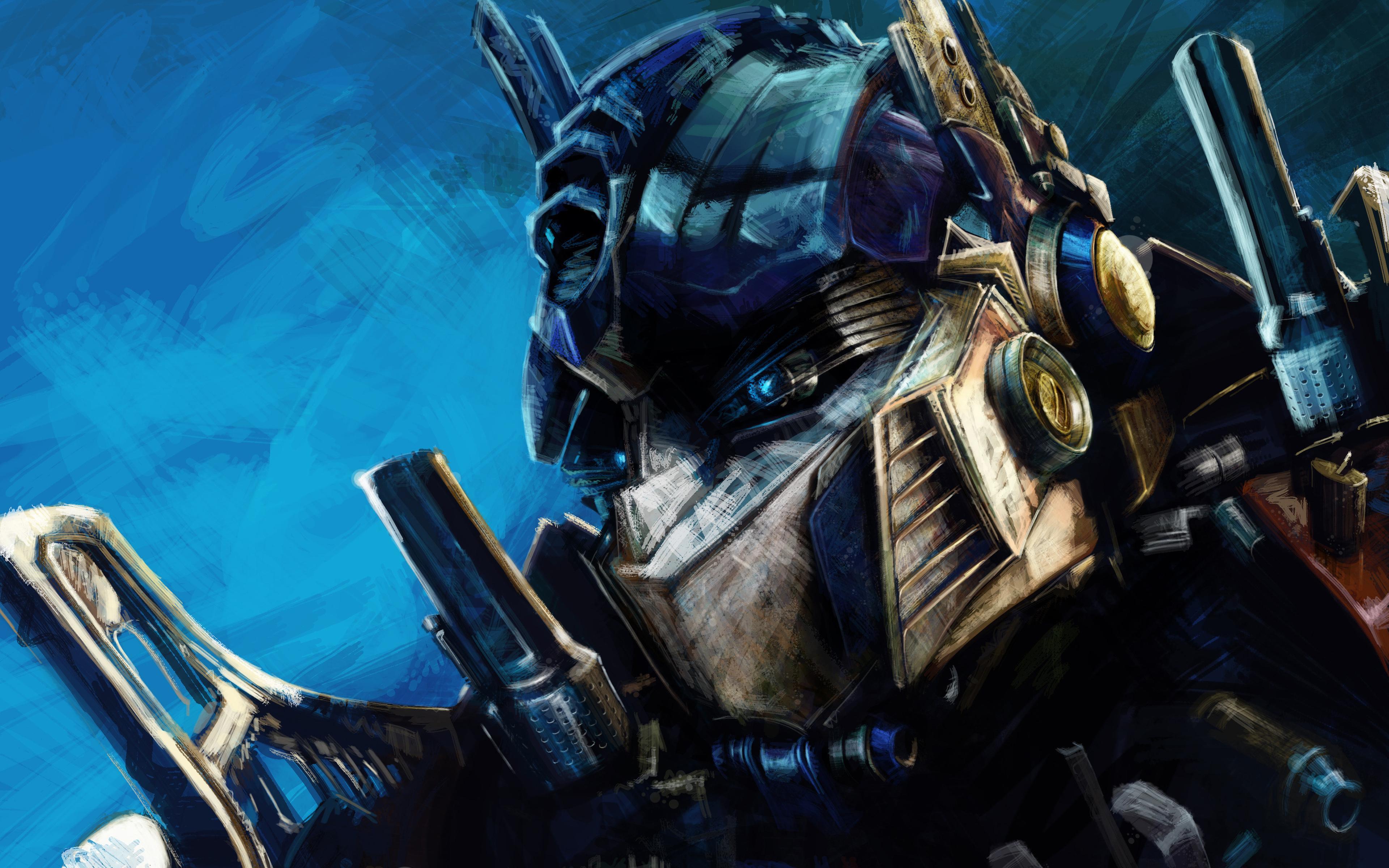 Image: Optimus Prime, Transformers, art, head, robot, leader, autobots
