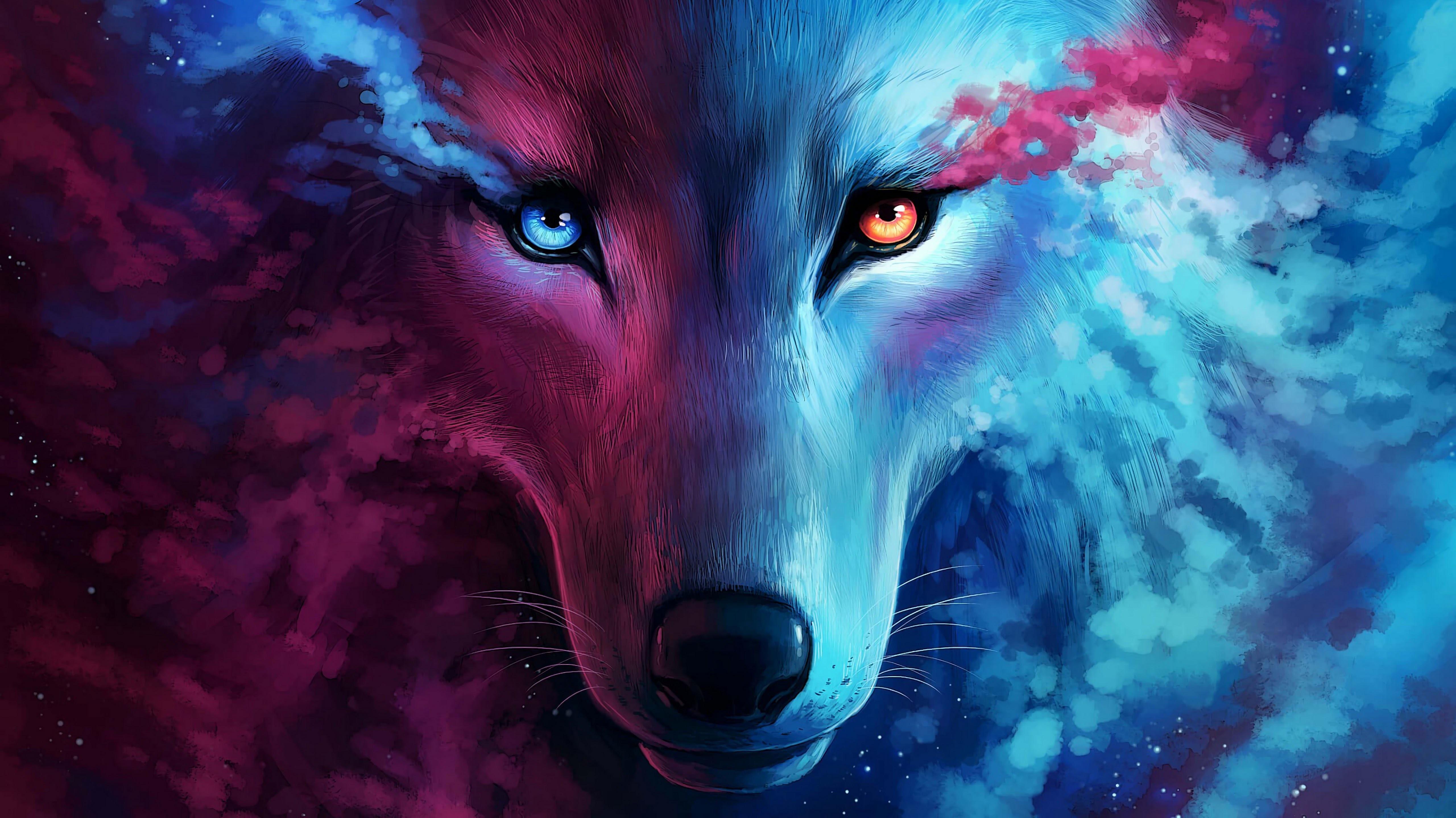 Картинка: Волк, фентези, морда, глаза