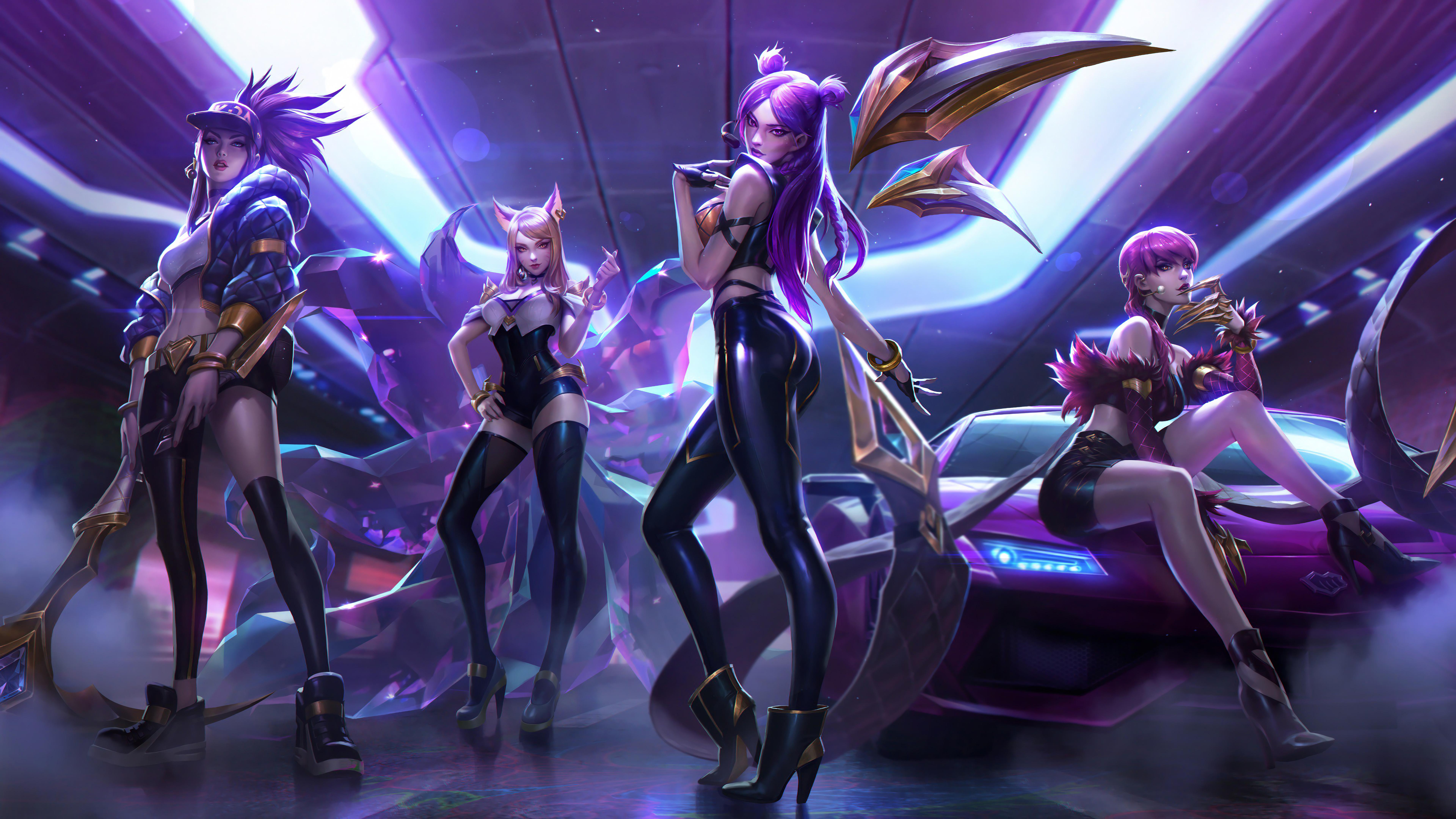 Image: Kai'sa, posture, car, four, League of Legends, game