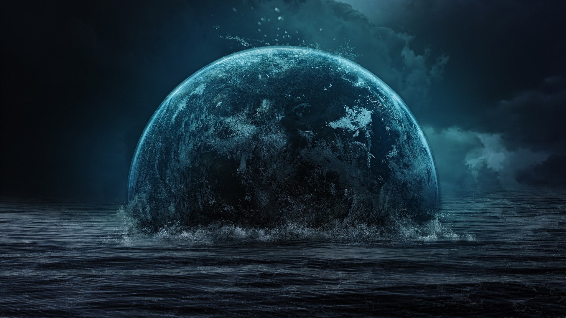 Image: planet, water, sky