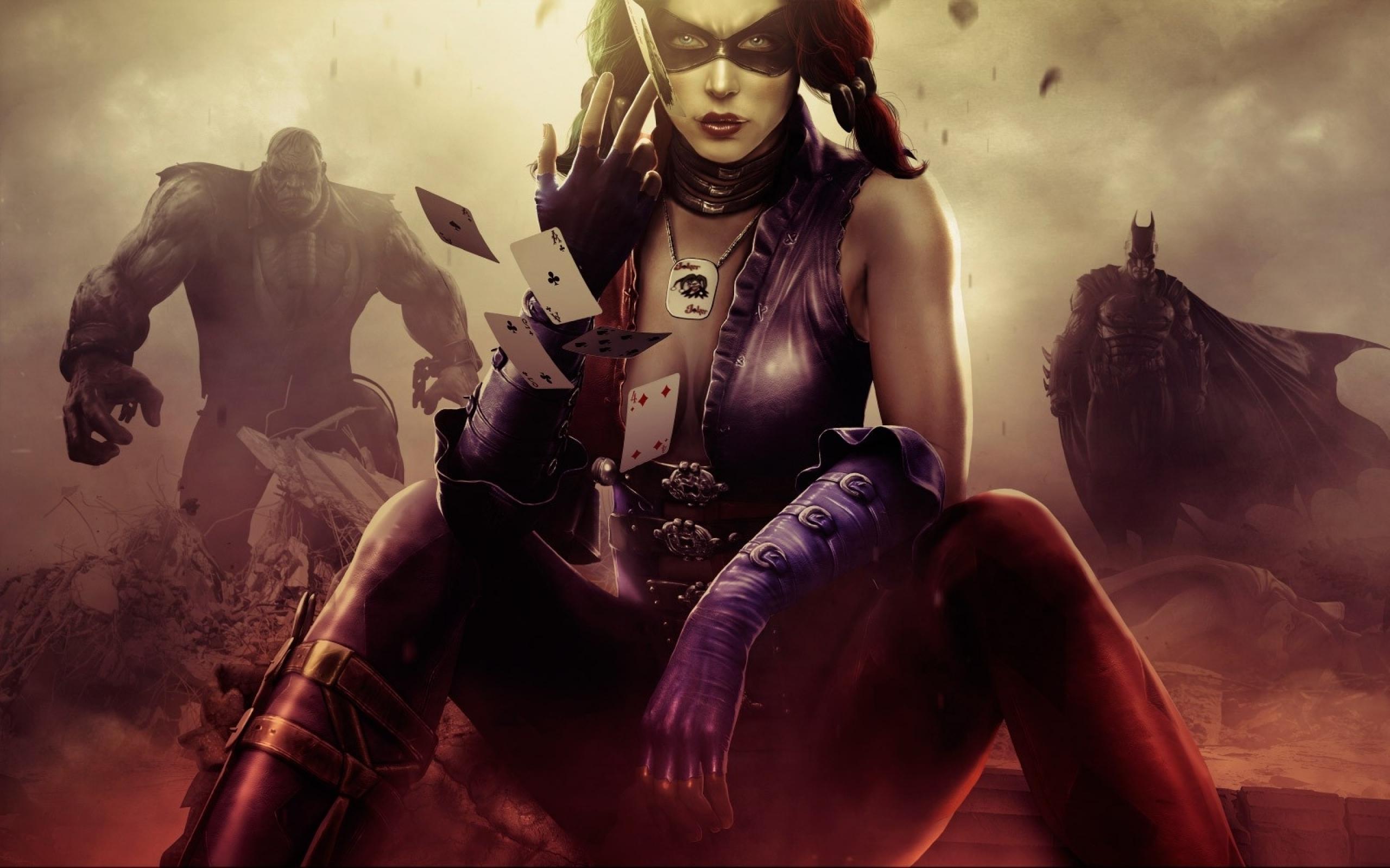 Картинка: Harley Quinn, карты, Solomon Grundy, Batman, Game, Injustice Gods Among Us