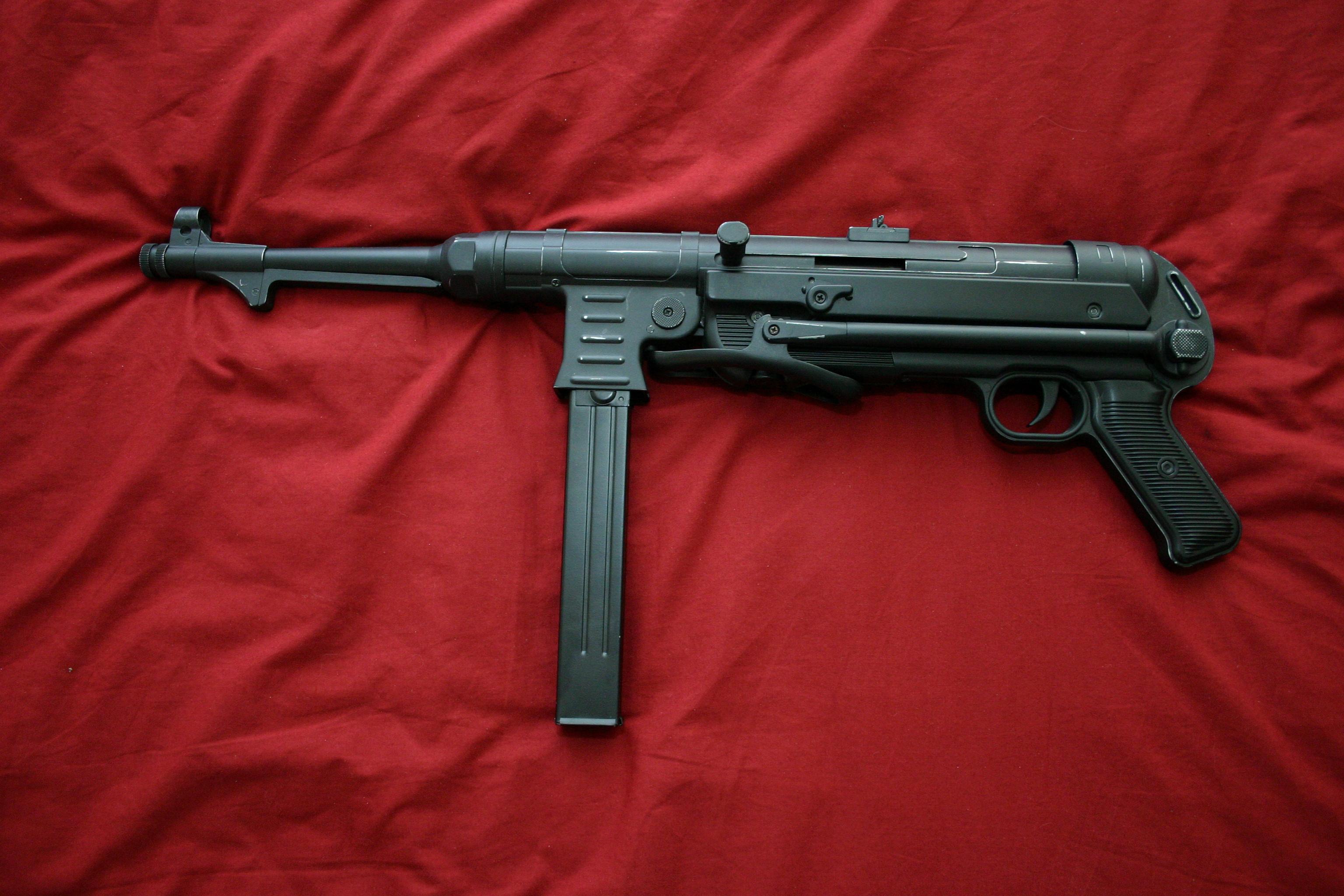 Картинка: Красный, ткань, оружие, MP-40, автомат, Шмайсер