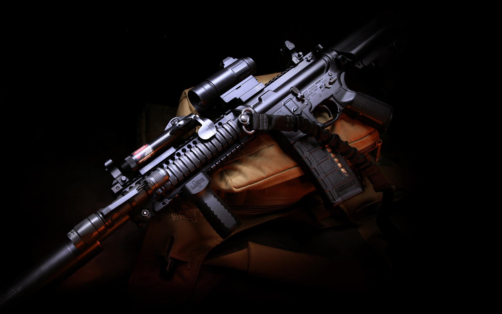 Картинка: Автомат, винтовка, штурмовая, лежит, прицел, M4