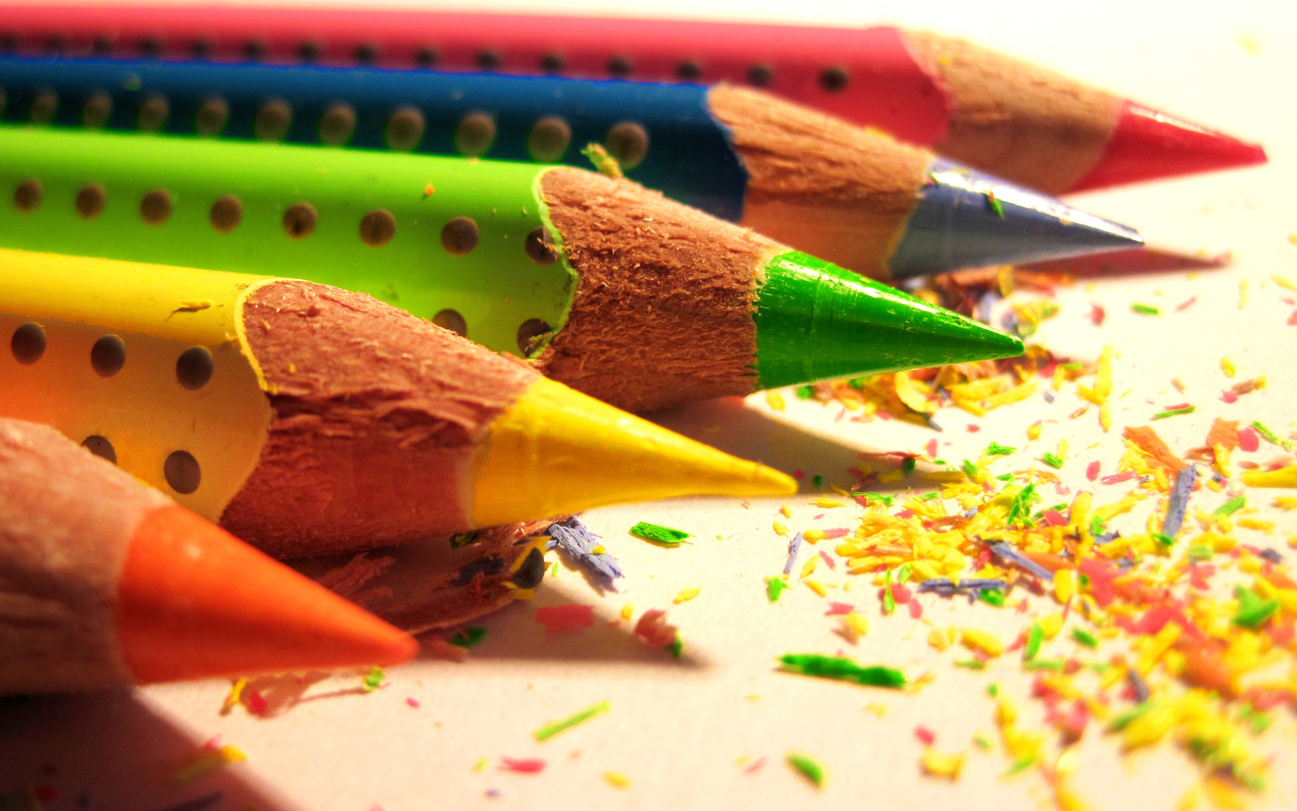 Image: Pencils, sharp, color, set, shavings, wood