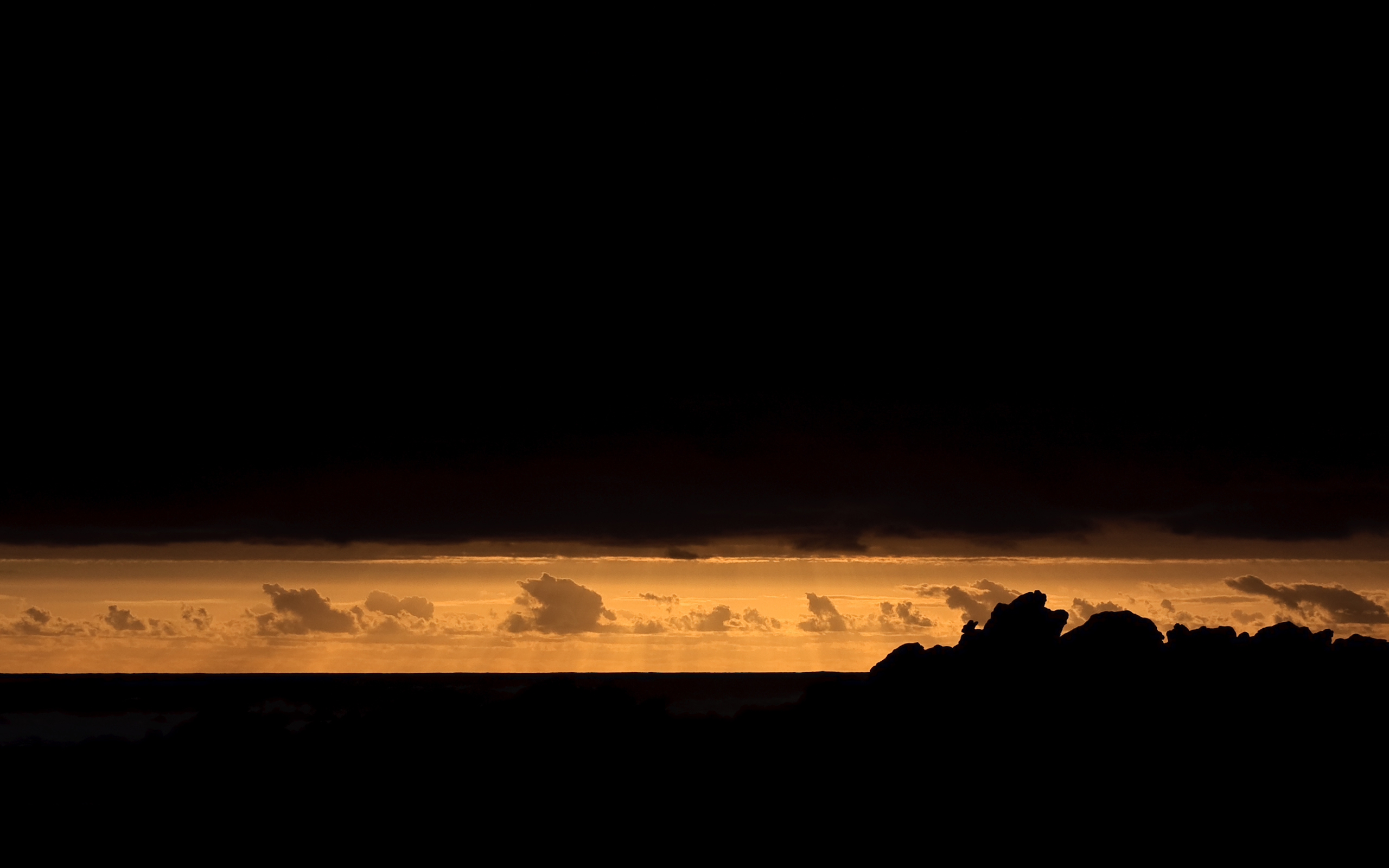 Картинка: Небо, облака, силуэт, горизонт