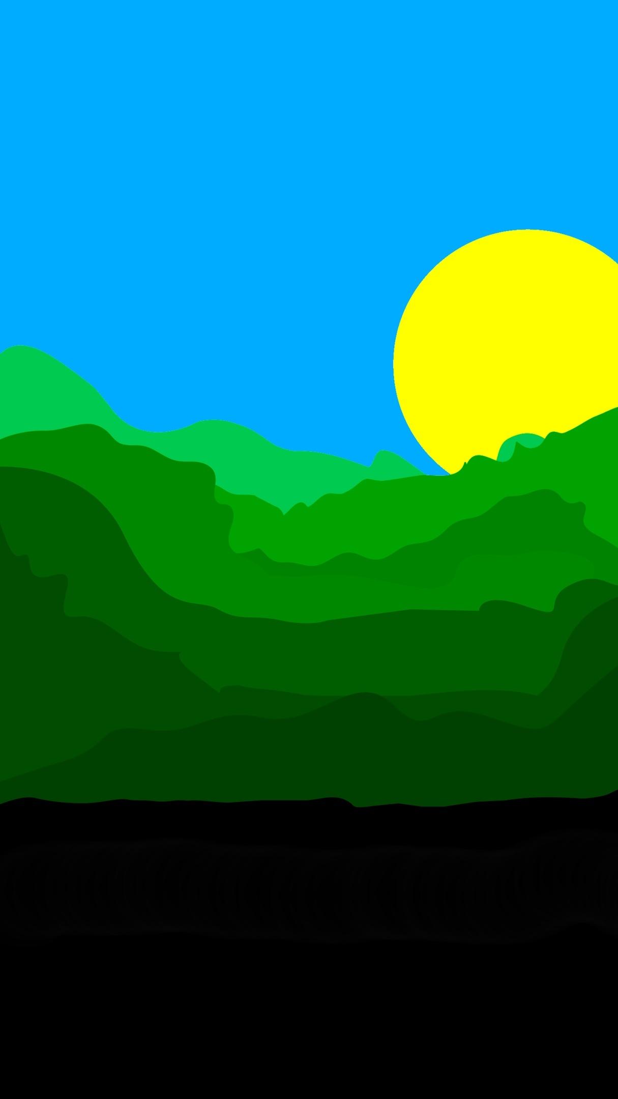 Картинка: Небо, солнце, лес, деревья, земля, лето