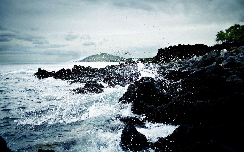 Картинка: Вода, скалы, камни, небо, берег, дерево, остров