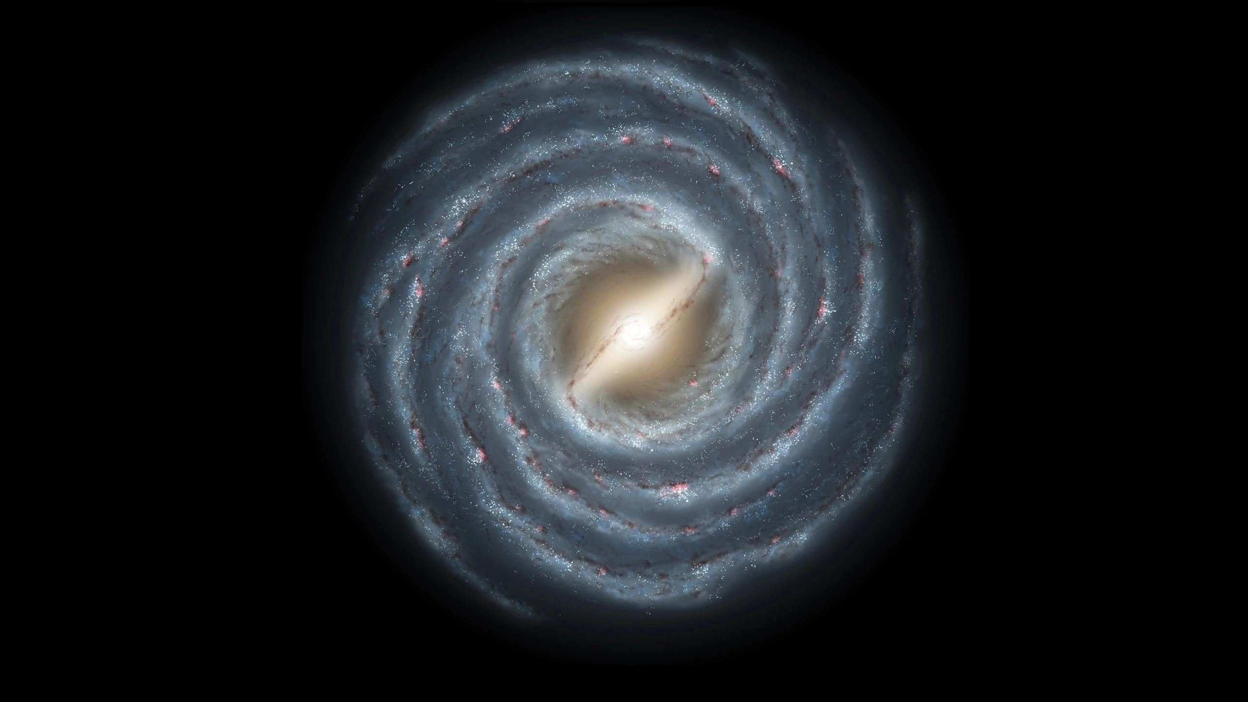 Картинка: Галактика, спиралевидная, рукава, перемычка, Млечный путь, космос