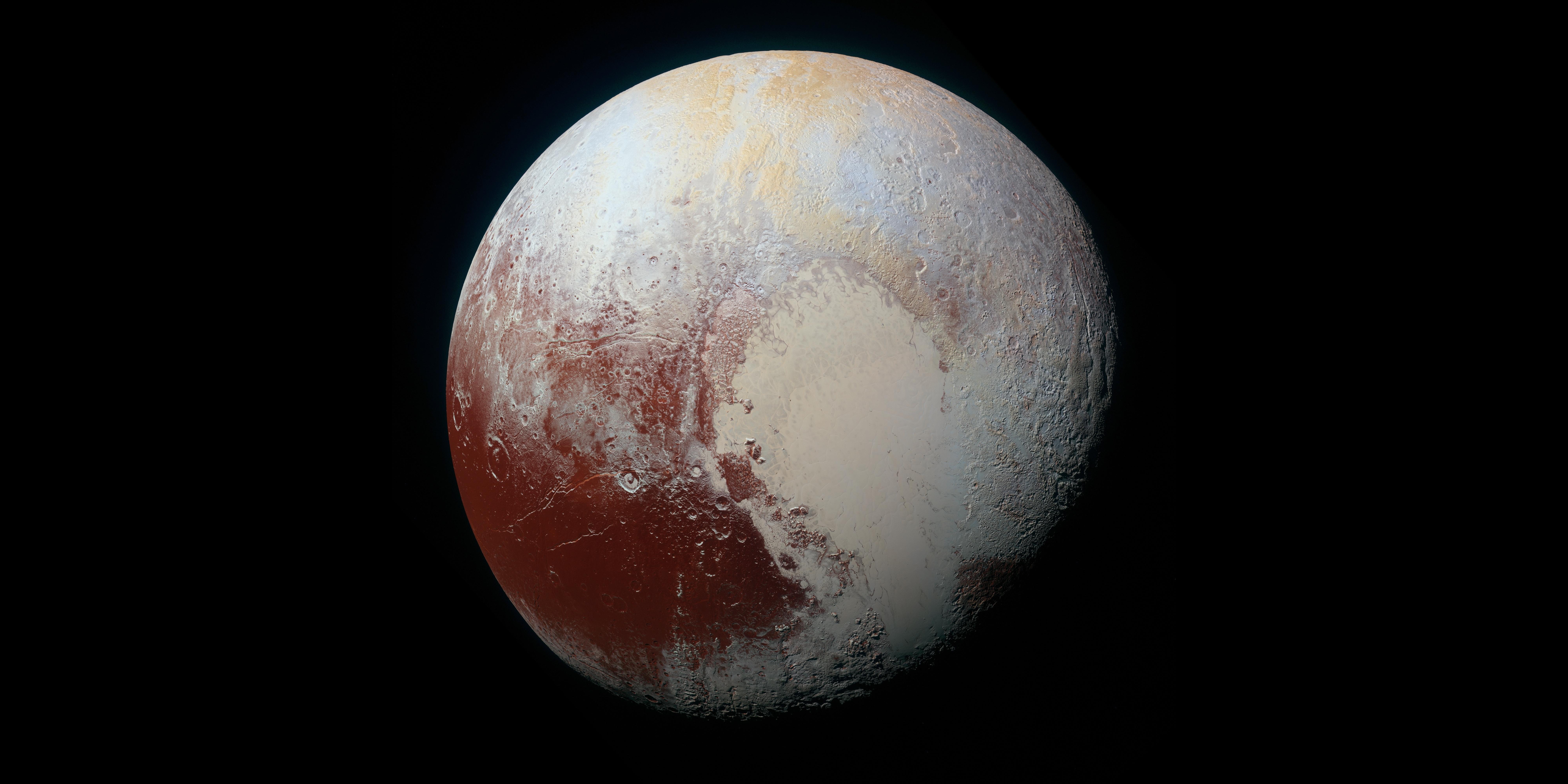 Картинка: Плутон, Pluton, карликовая планета, снимок, NASA, рельеф