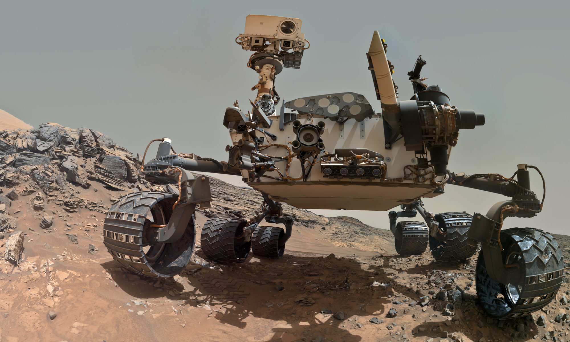 Image: Curiosity, Mars Rover, technology, surface, stones