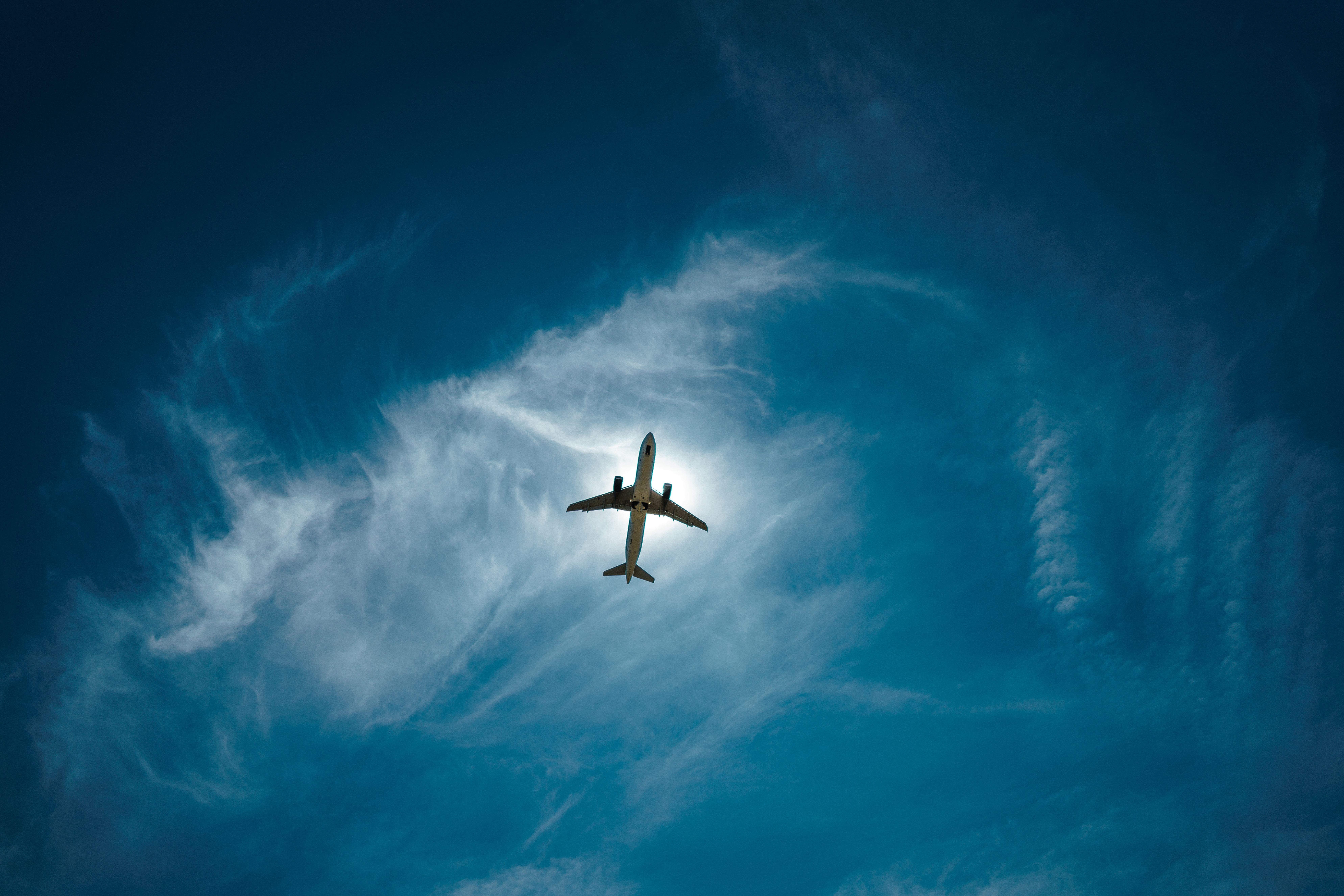 Image: Plane, flight, flying, high, skies, sky
