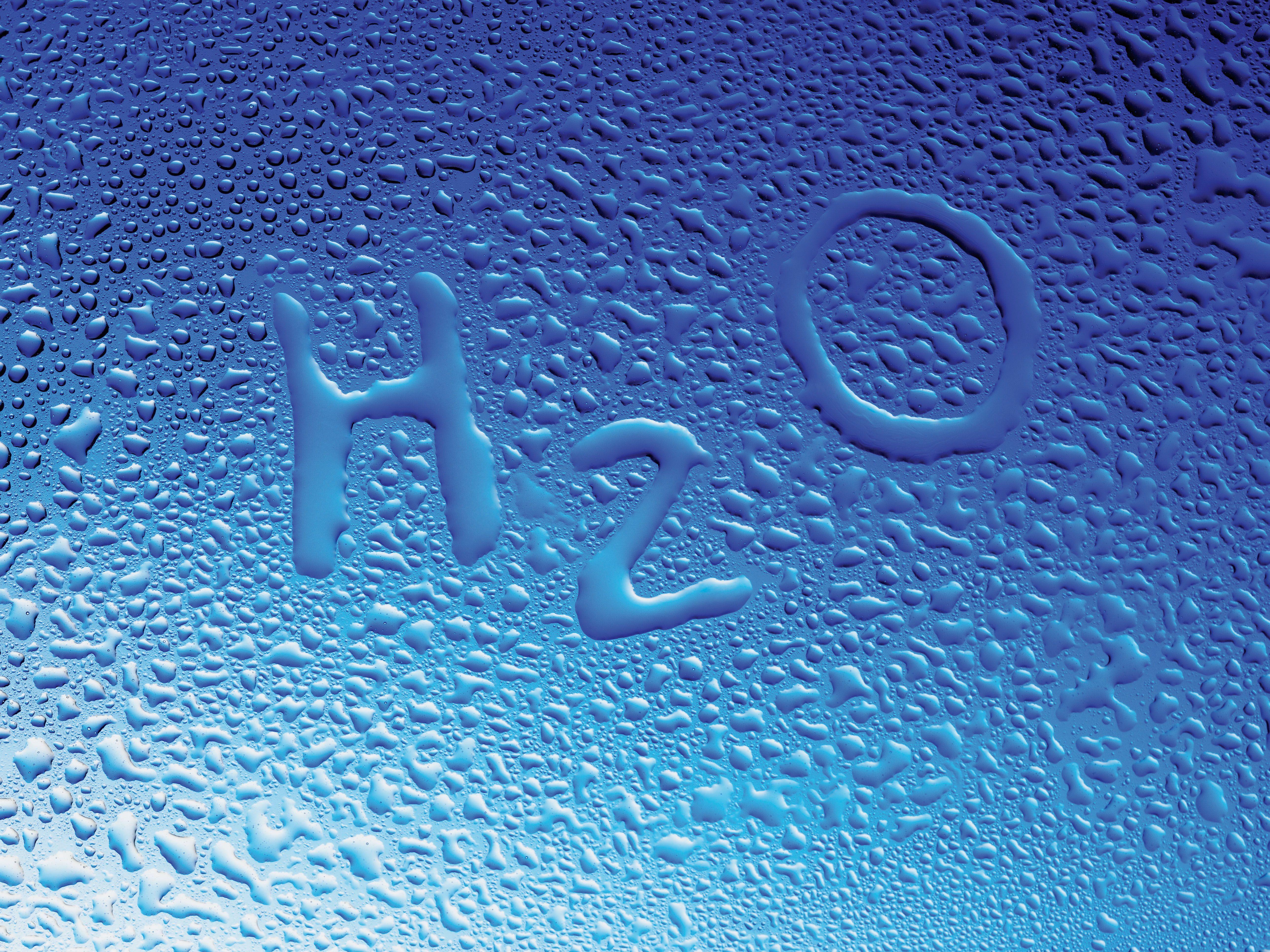 Картинка: Формула, вода, капли, водород, кислород, пропорции