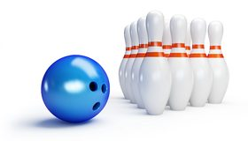 Картинка: Боулинг, шар, кегли, игра, развлечение, белый фон