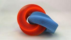 Картинка: Кольца, фигура, красный, синий