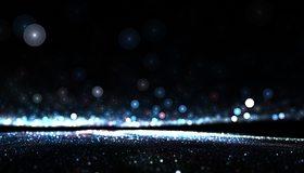Картинка: Круги, блики, свет, блеск, спираль, горизонт
