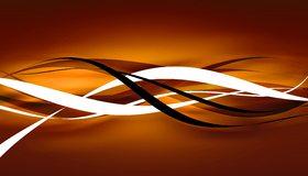 Картинка: Линии, волны, плавные, изгибы, чёрные, белые