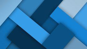 Картинка: Прямоугольники, синий, оттенки, слои