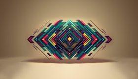 Картинка: Ромб, квадрат, линии, зигзаги, геометрия