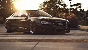 Картинка: Audi, A5, черный, закат, литьё