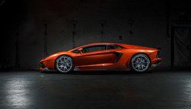 Картинка: Lamborghini, Aventador, LP 700-4, литьё, цвет, оранжевый, помещение