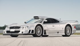 Картинка: Mercedes, SLK, GTR, серебристый, суперкар, спорткар