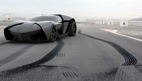 Картинка: Суперкар, трасса, резина, след, протектор, Lamborghini, Ankonian, чёрный, концепт