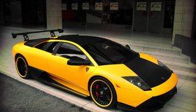 Картинка: Lamborghini, Murcielago, tuning, спойлер, жёлтый, чёрный, спорткар, суперкар, гоночный, мощный