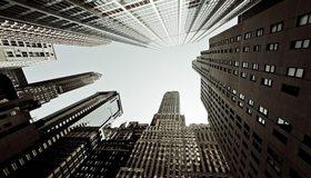 Картинка: Небоскрёбы, город, Нью-Йорк, здания, небо