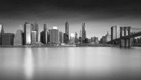 Картинка: New York City, город, мост, Skyline, река