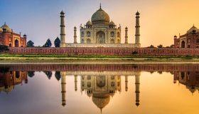Картинка: Тадж-Махал, Taj Mahal, Индия, отражение