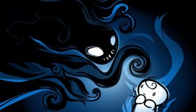 Картинка: Страх, дым, испуг, монстр, зубастый, ребёнок