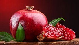 Картинка: Гранат, плод, фрукт, красный, кожура