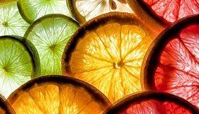 Картинка: Цитрусы, апельсин, грейпфрут, лайм, дольки