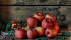 Картинка: Яблоки, красные, спелые, урожай