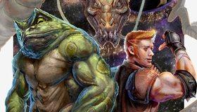 Картинка: Battletoads & Double Dragon - The Ultimate Team, Double Dragon, Battletoads, Dragon, art, toad, лягушка, дракон