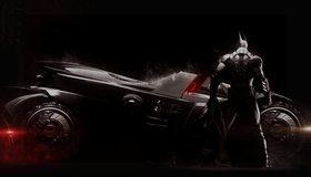 Картинка: Batman, Бэтмен, Batman: Arkham Knight, Бэтмен: Рыцарь Аркхема, Брюс Уэйн, Bruce Wayne, костюм, броня, Бэтмобиль, технологии, Тёмный рыцарь, Dark knight
