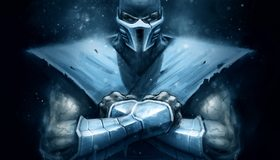 Картинка: Sub-Zero, Ниже Нуля, боец, смертельная битва, Mortal Kombat, арт