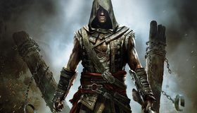 Картинка: Assassin's Creed, Крик свободы, Адевале, персонаж, мужчина, цепи, брёвна