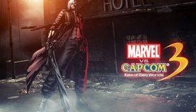 Картинка: Данте, Dante, демон, меч, Ребеллион, плащ, здание, отель, Devil May Cry 3, Fate of Two Worlds, Marvel, Capcom, игра