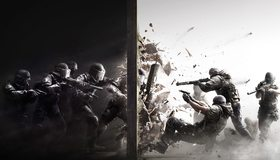 Картинка: Tom Clancys, Rainbow Six, Siege, спецназ, группировка, противостояние, оружие, полиция, облава